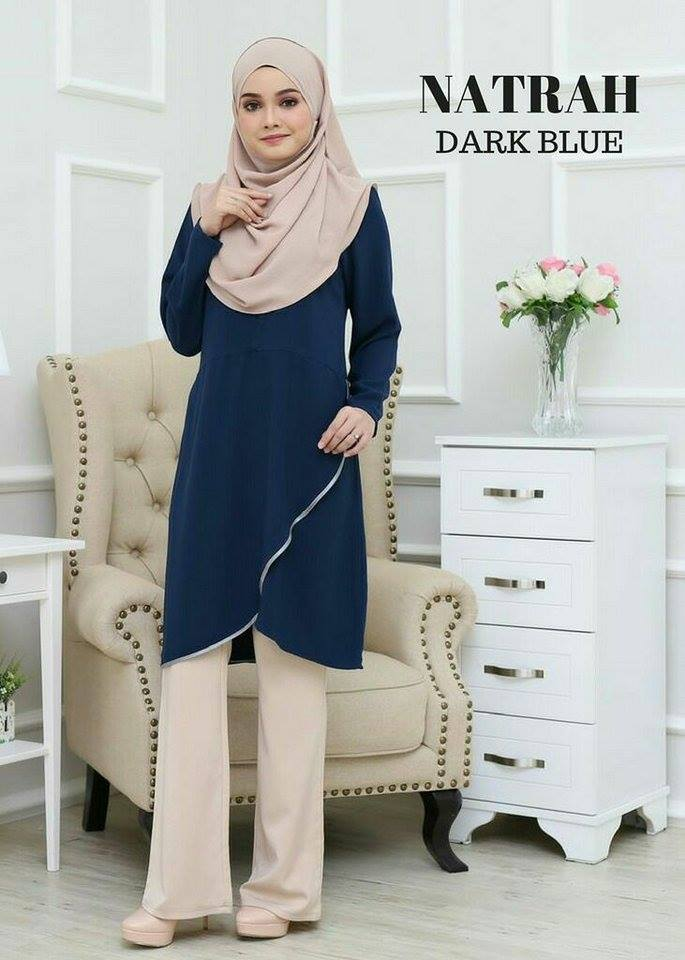 BLOUSE NATRAH DARK BLUE