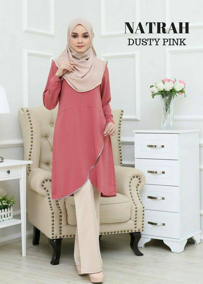 BLOUSE NATRAH DUSTY PINK