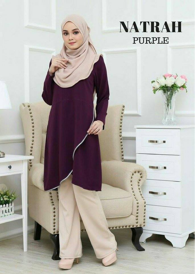 BLOUSE NATRAH PURPLE