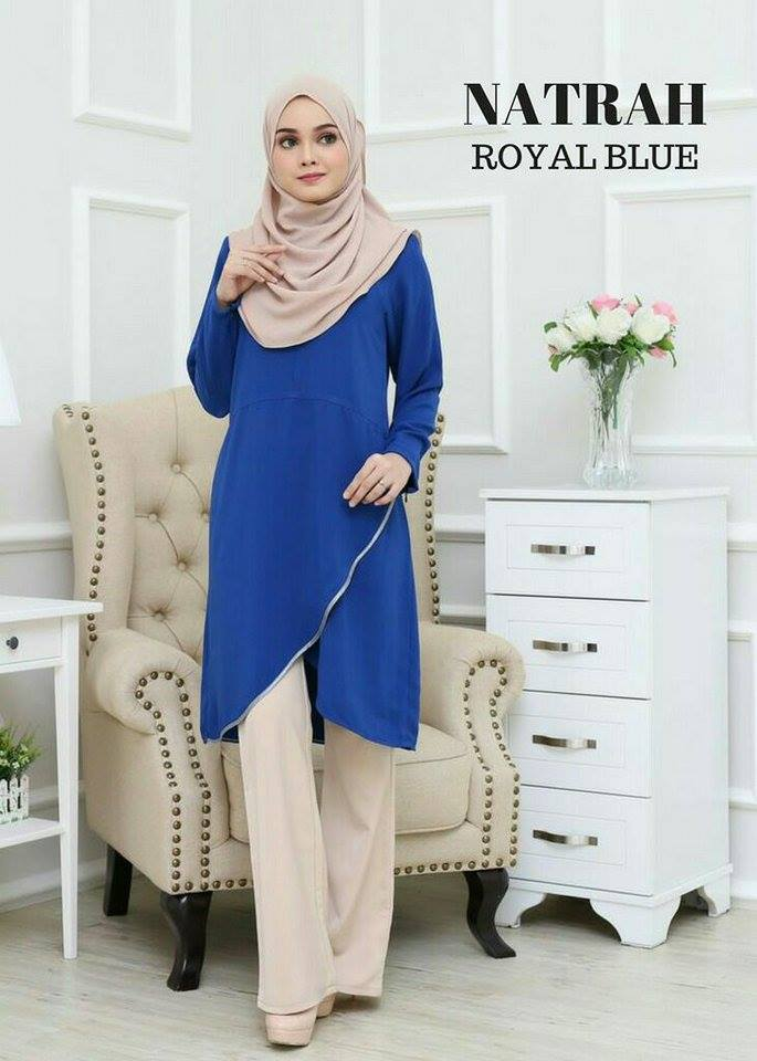 BLOUSE NATRAH ROYAL BLUE