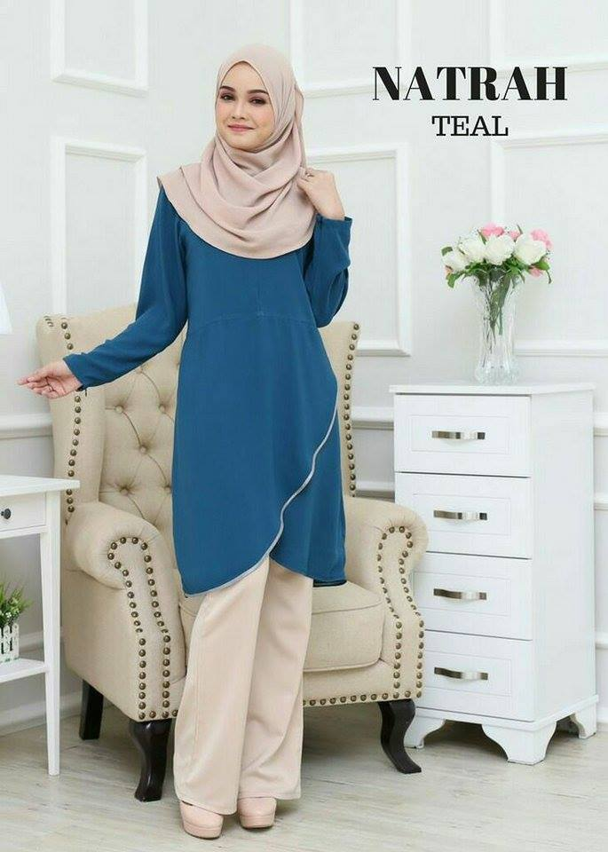 BLOUSE NATRAH TEAL