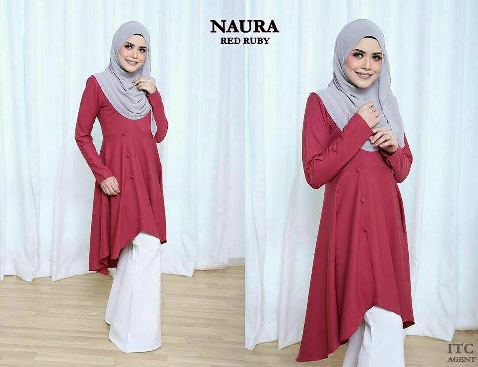 BLOUSE NAURA RED RUBY 1