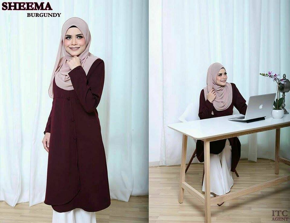 BLOUSE SHEEMA FURSAN BURGUNDY 1