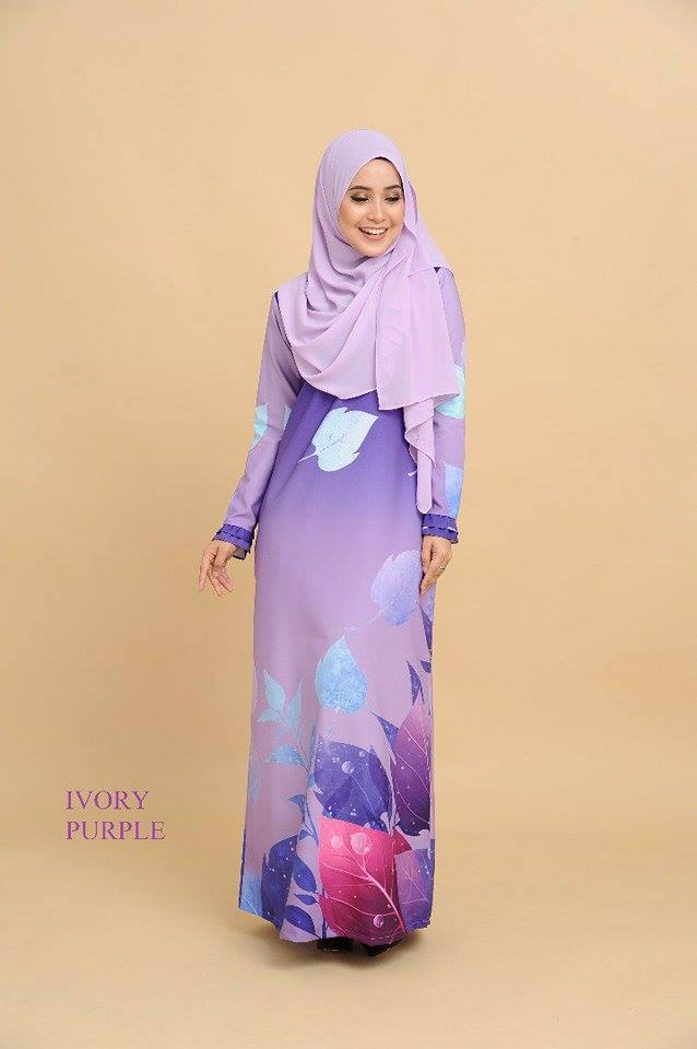 JUBAH 3D EKSKLUSIF IVORY PURPLE