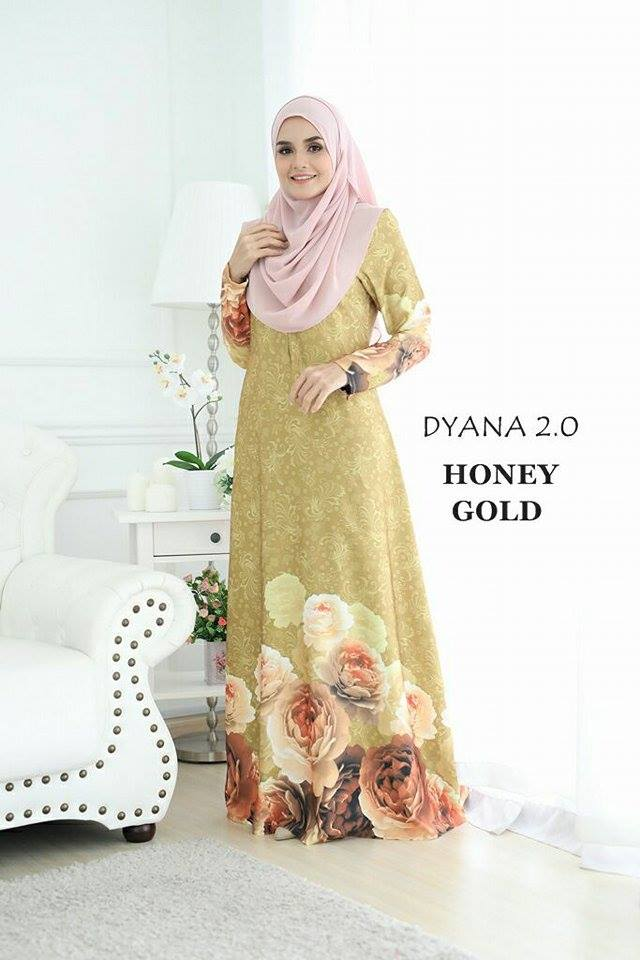JUBAH DYANA 2.0 HONEY