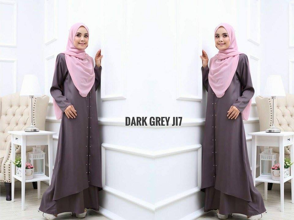 JUBAH LAYER INSYIRAH DARK GREY 2