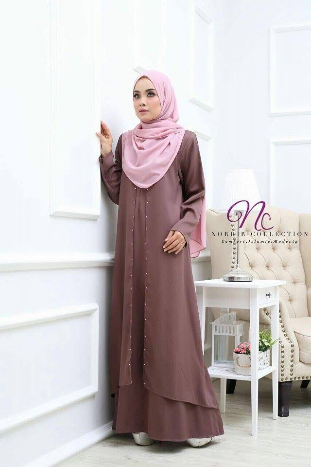JUBAH LAYER INSYIRAH ROS BROWN 1