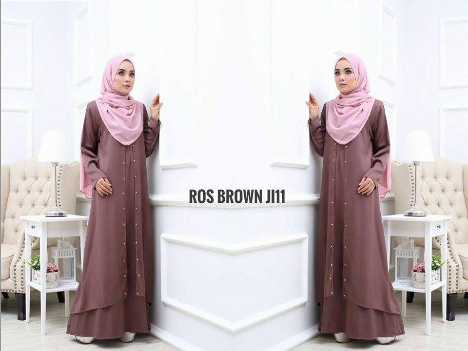 JUBAH LAYER INSYIRAH ROS BROWN 2