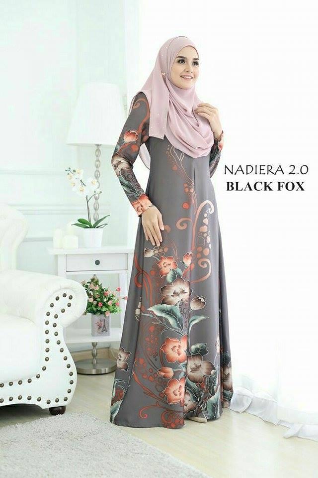 JUBAH NADIERA BLACK FOX
