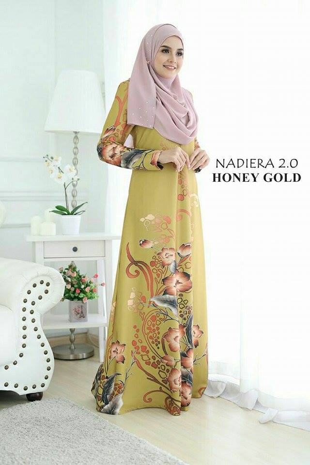 JUBAH NADIERA HONEY GOLD