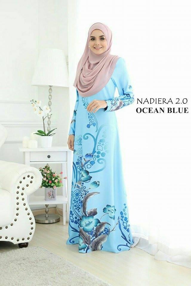 JUBAH NADIERA OCEAN BLUE