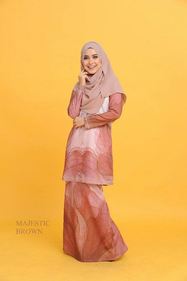 KURUNG MODEN 3D MAJESTIC BROWN