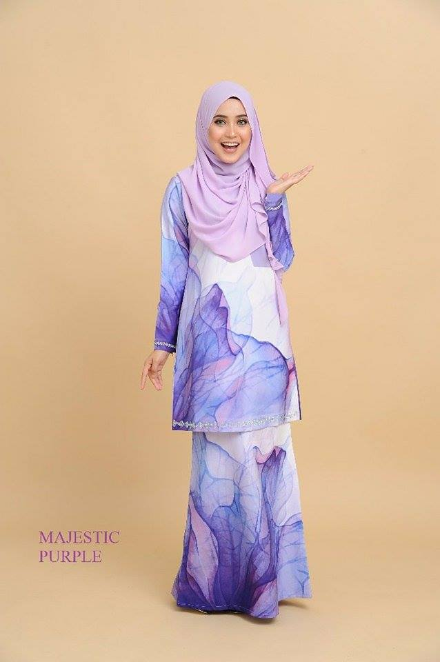 KURUNG MODEN 3D MAJESTIC PURPLE