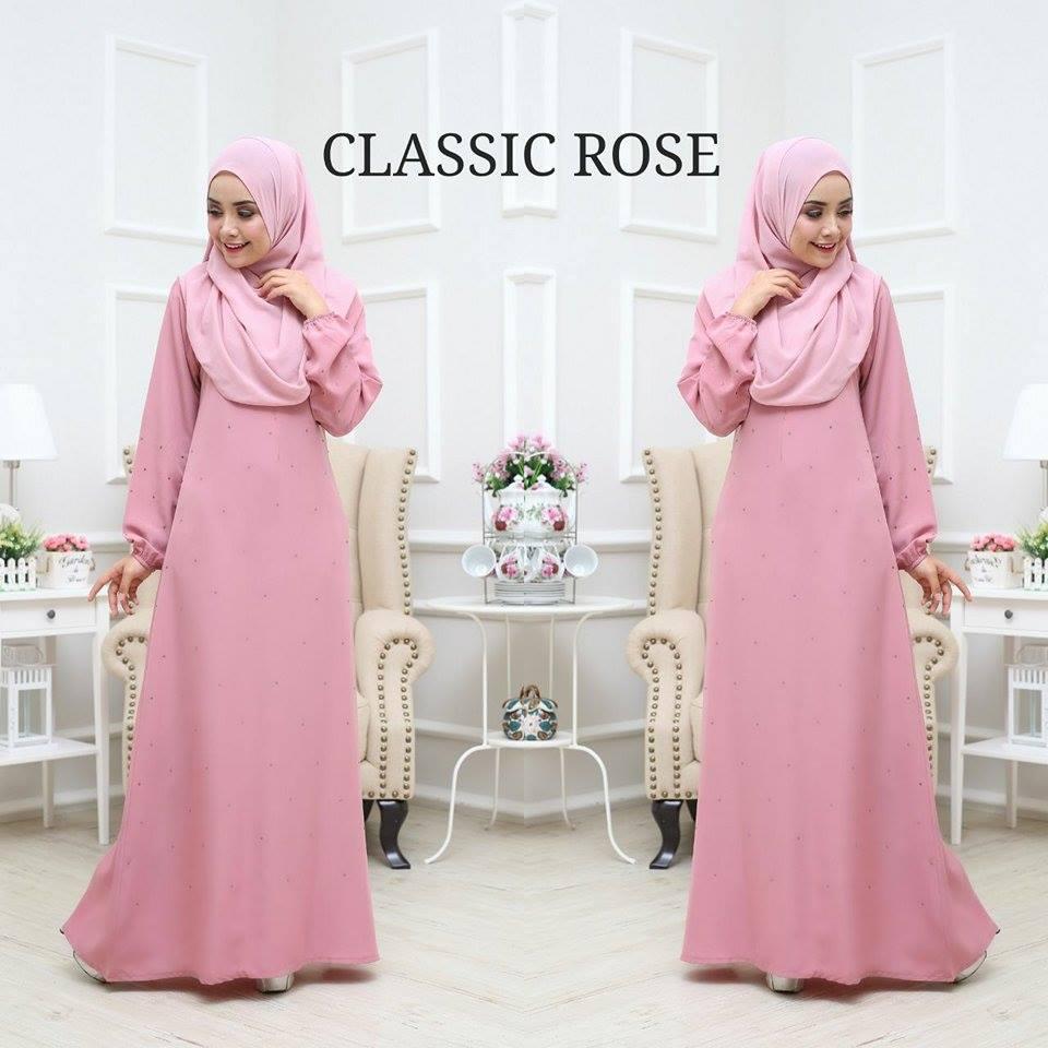 JUBAH BALQIS CLASSIC ROSE