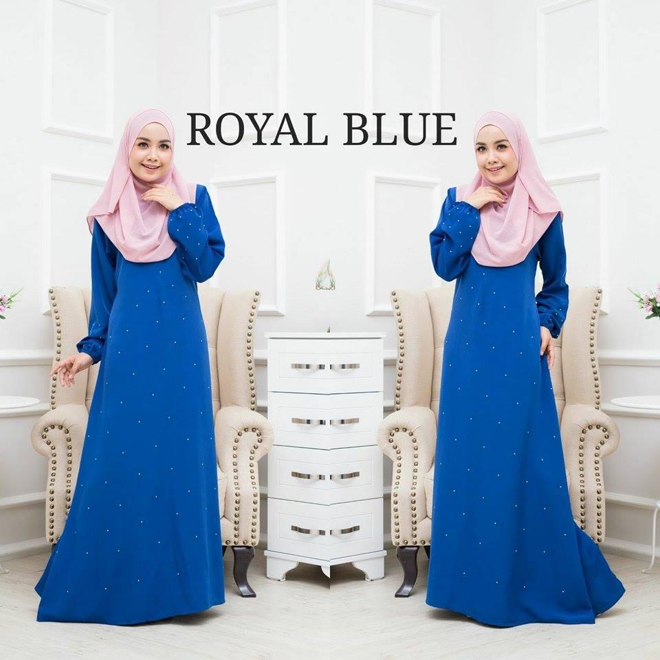 JUBAH BALQIS ROYAL BLUE