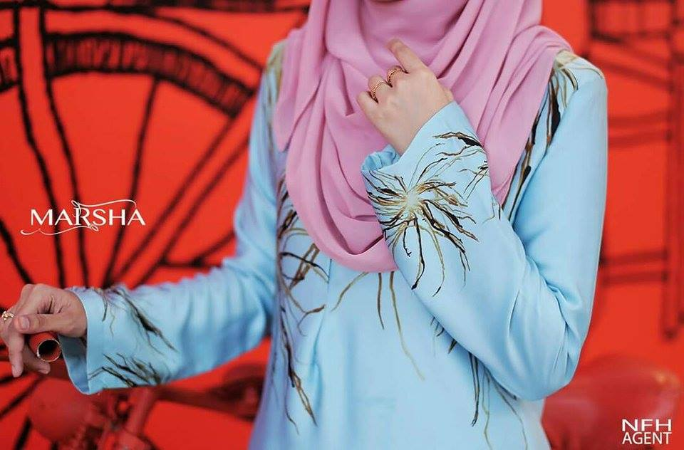 KURUNG MODEN MARSHA CLOSE UP