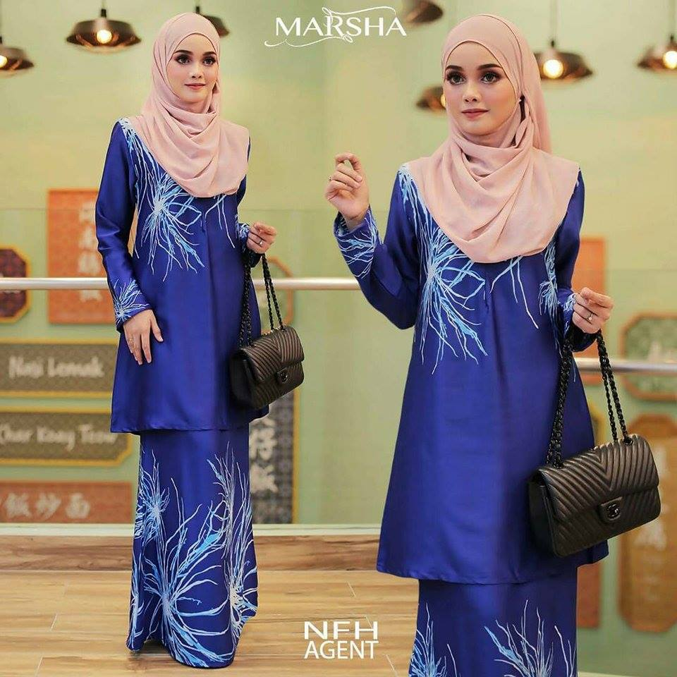 KURUNG MODEN MARSHA ROYAL BLUE