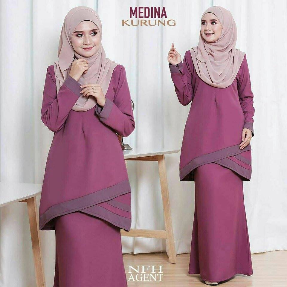 KURUNG MODEN MEDINA DUSTY PURPLE