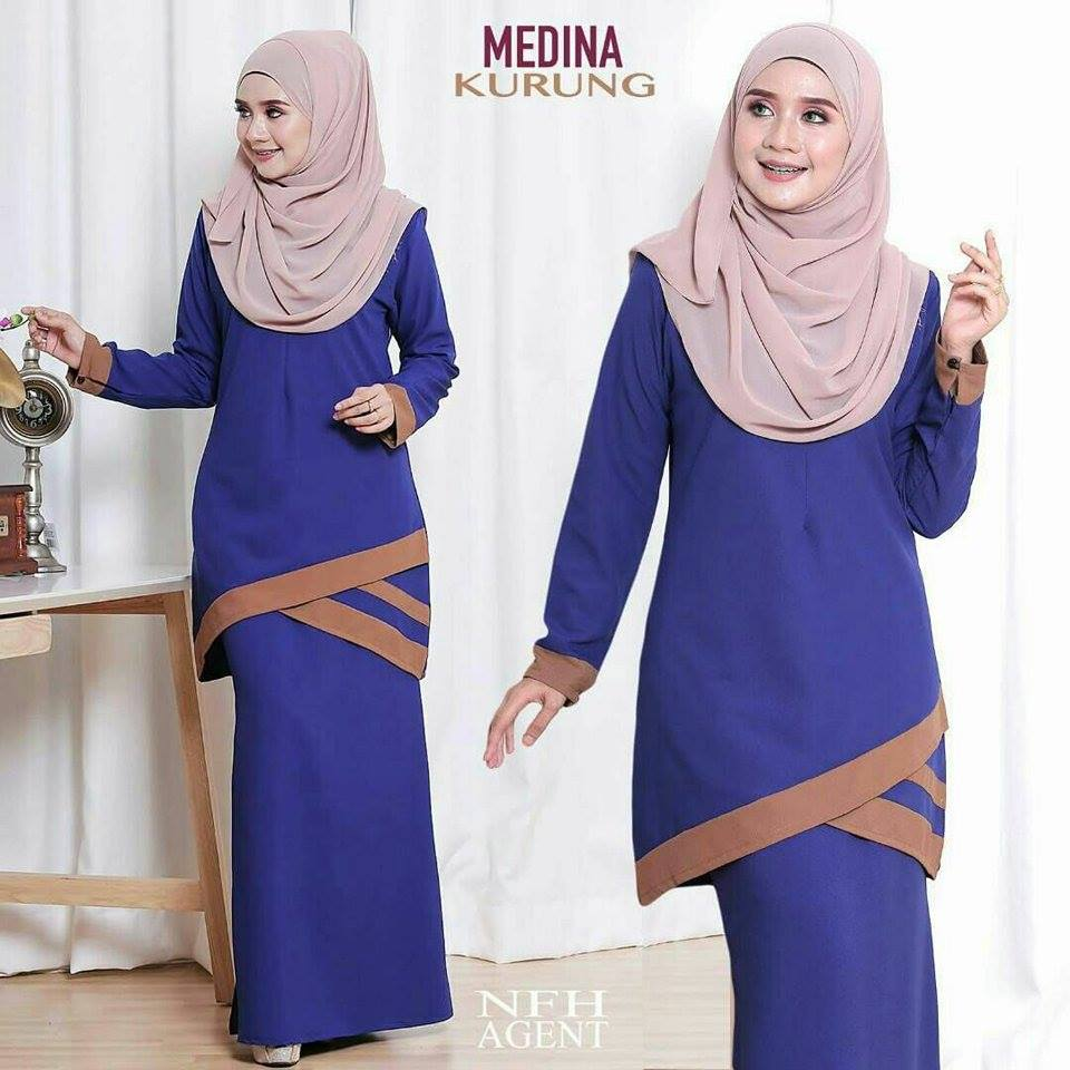 KURUNG MODEN MEDINA ROYAL BLUE