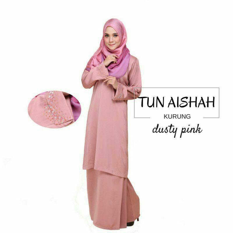 KURUNG PAHANG TUN AISHAH DUSTY PINK