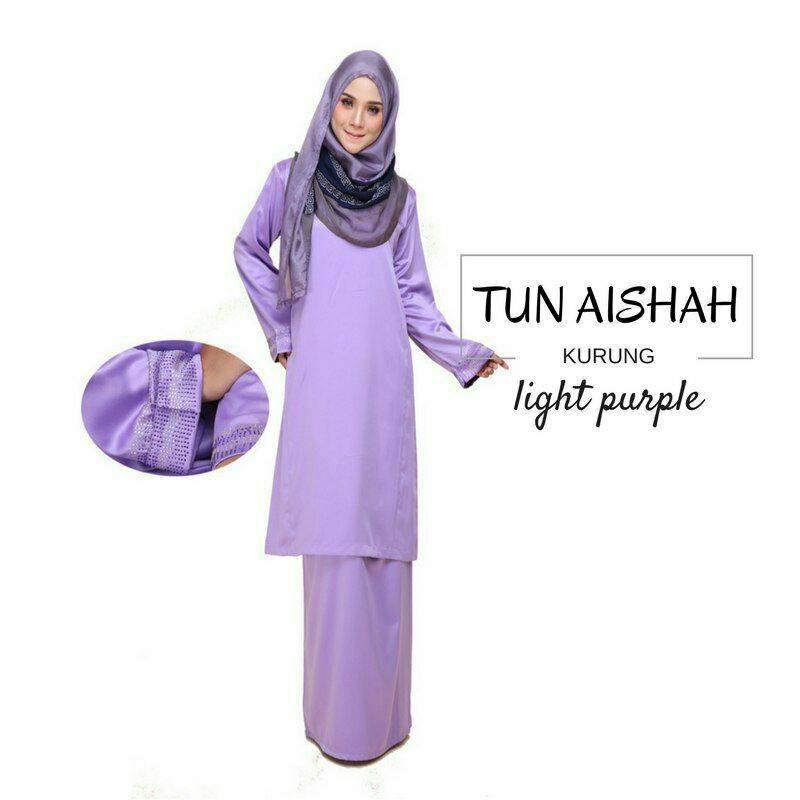 KURUNG PAHANG TUN AISHAH LIGHT PURPLE