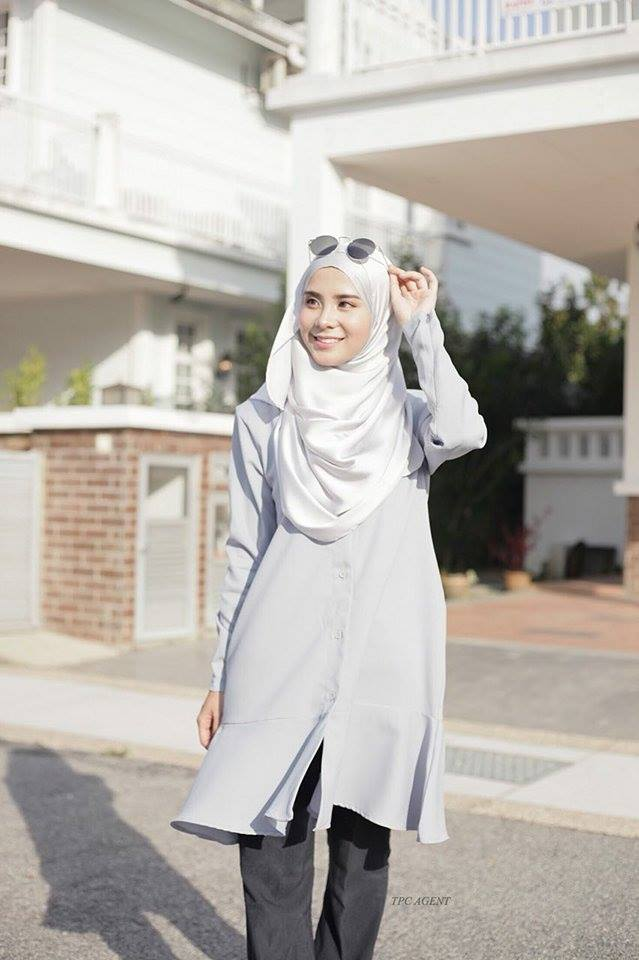 MUMTAZ TUNIC LIGHT GREY 1
