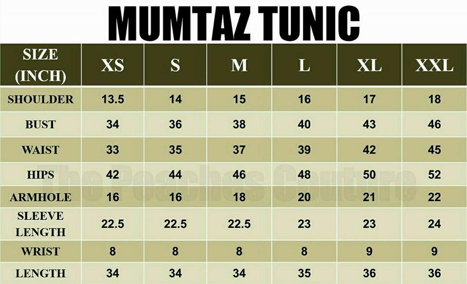 MUMTAZ TUNIC UKURAN