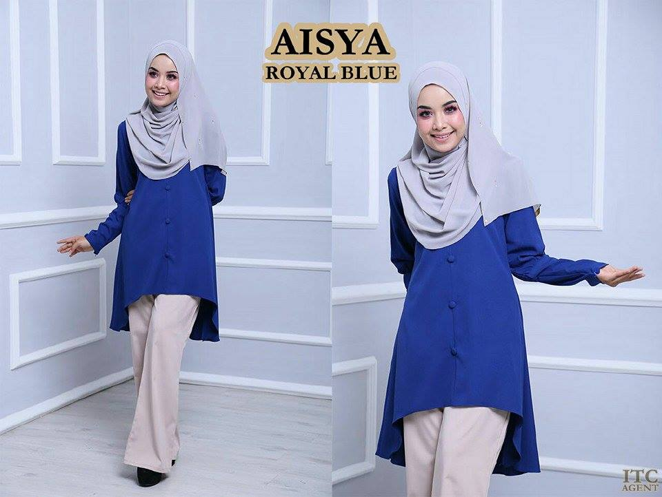 BLOUSE AISYA ROYAL BLUE
