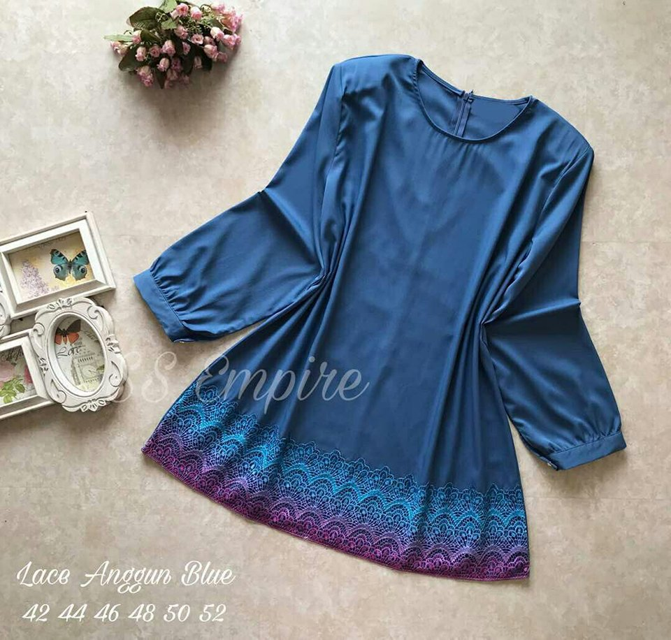 BLOUSE LACE ANGGUN BLUE
