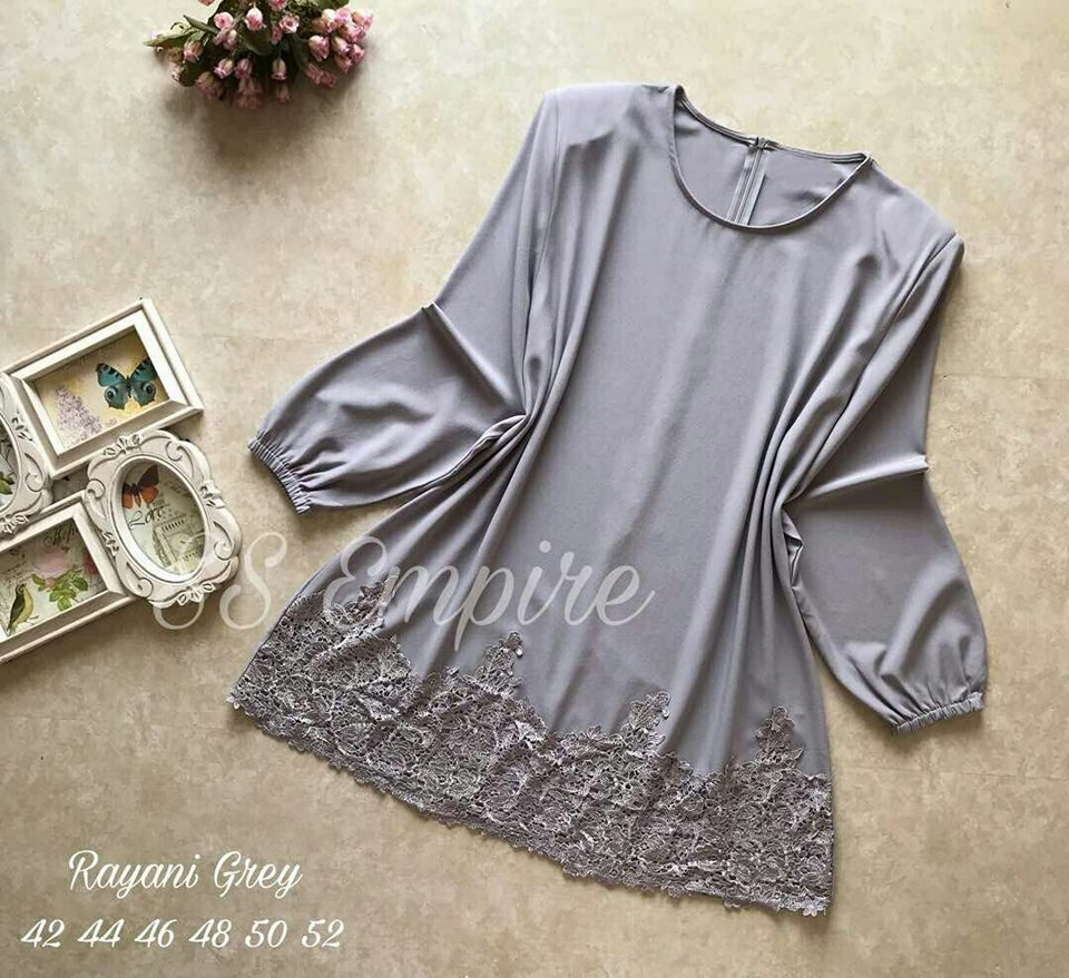 BLOUSE LACE RAYANI GREY