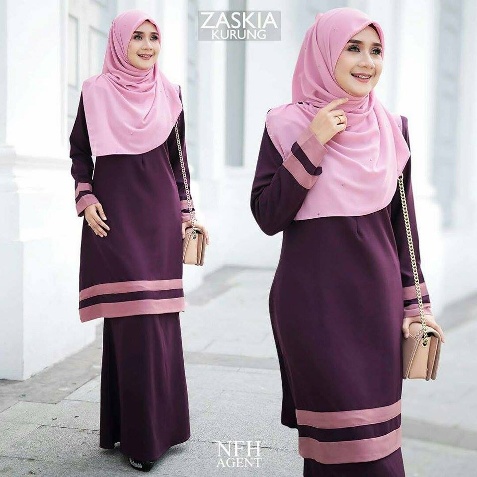 KURUNG MODEN ZASKIA DARK PURPLE