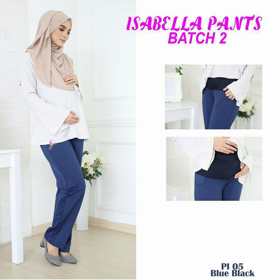 SELUAR PREGGY ISABELLA BLUE BLACK