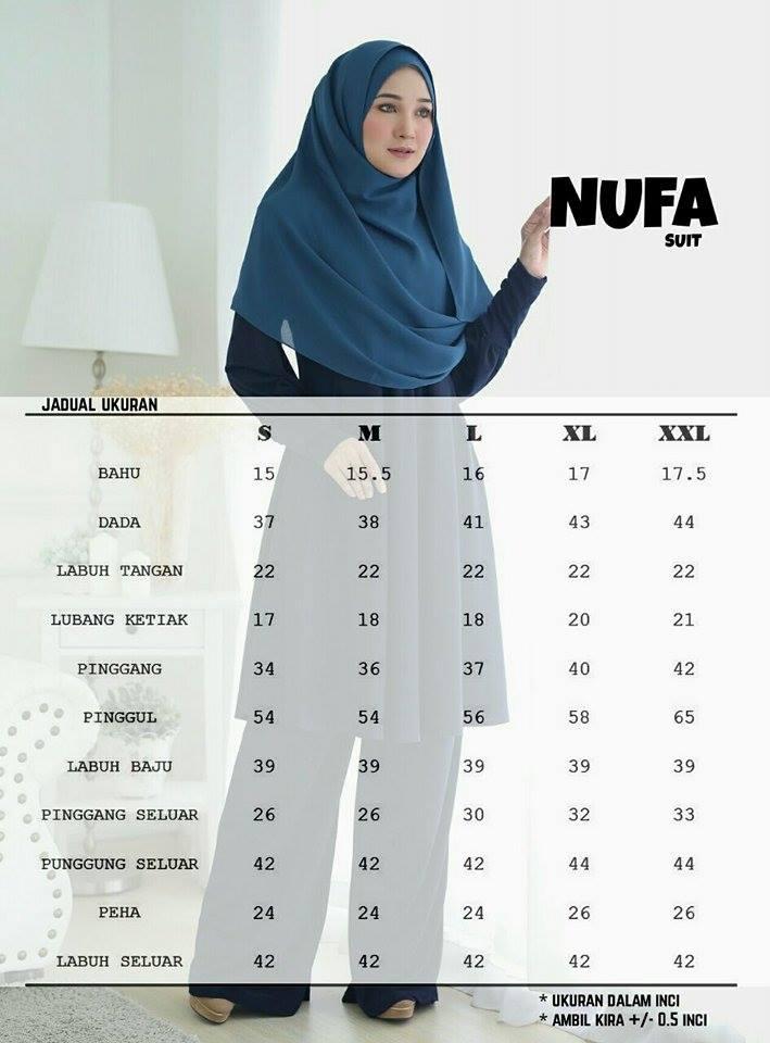 SUIT NUFA NF UKURAN
