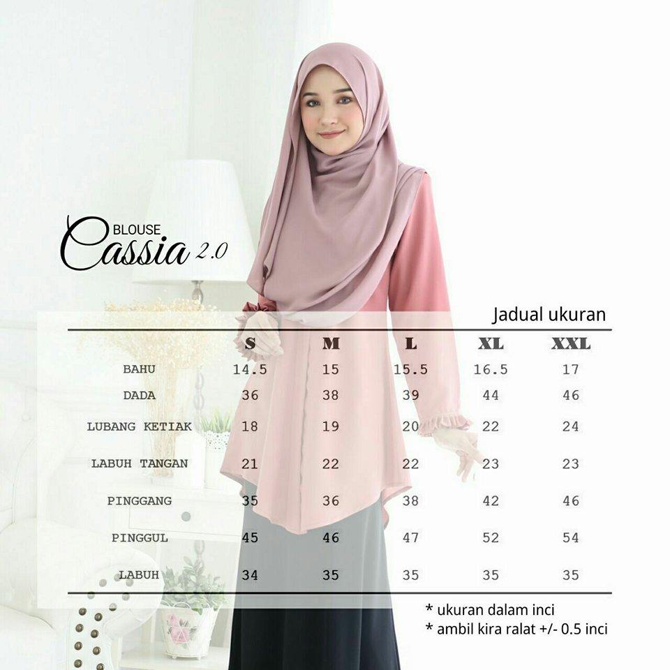 BLOUSE CASSIA 3.0 CS ukuran