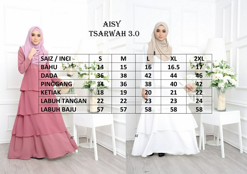 DRESS AISY TSARWAH UKURAN