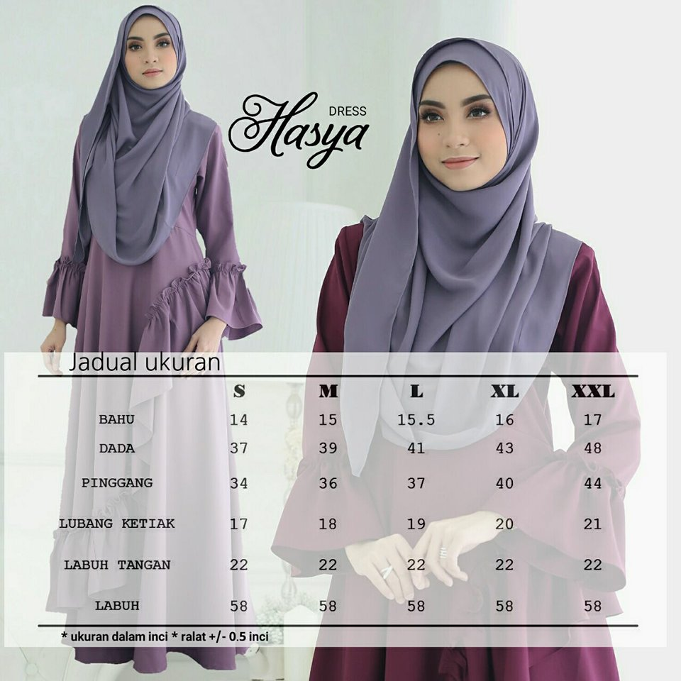 DRESS HASYA UKURAN