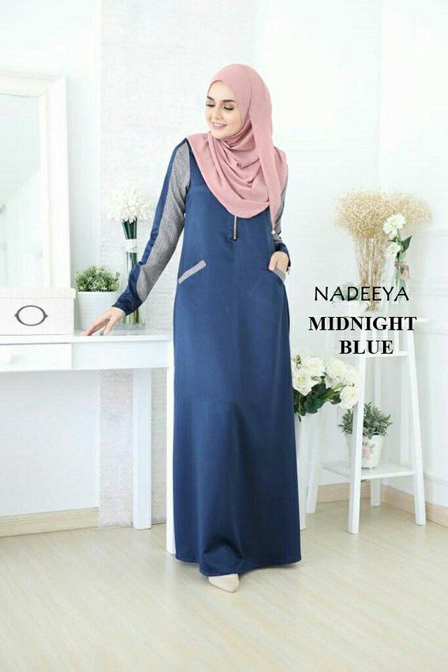 JUBAH NADEEYA MIDNIGHT BLUE