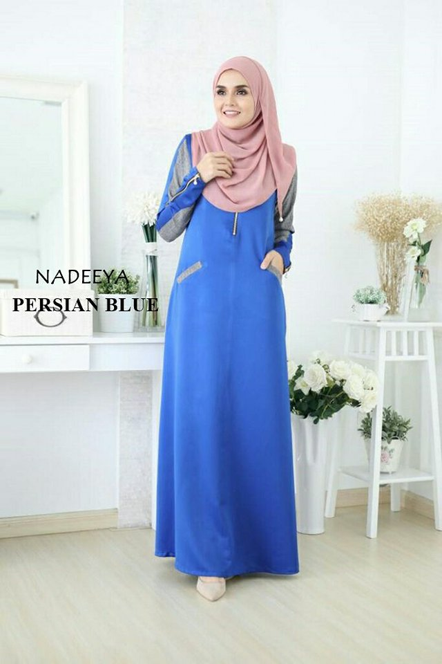 JUBAH NADEEYA PERSIAN BLUE