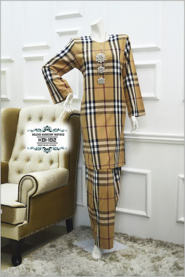 KURUNG BURBERRY INSPIRED KBI182 1