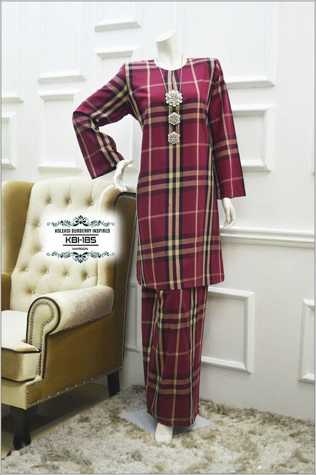 KURUNG BURBERRY INSPIRED KBI185 1