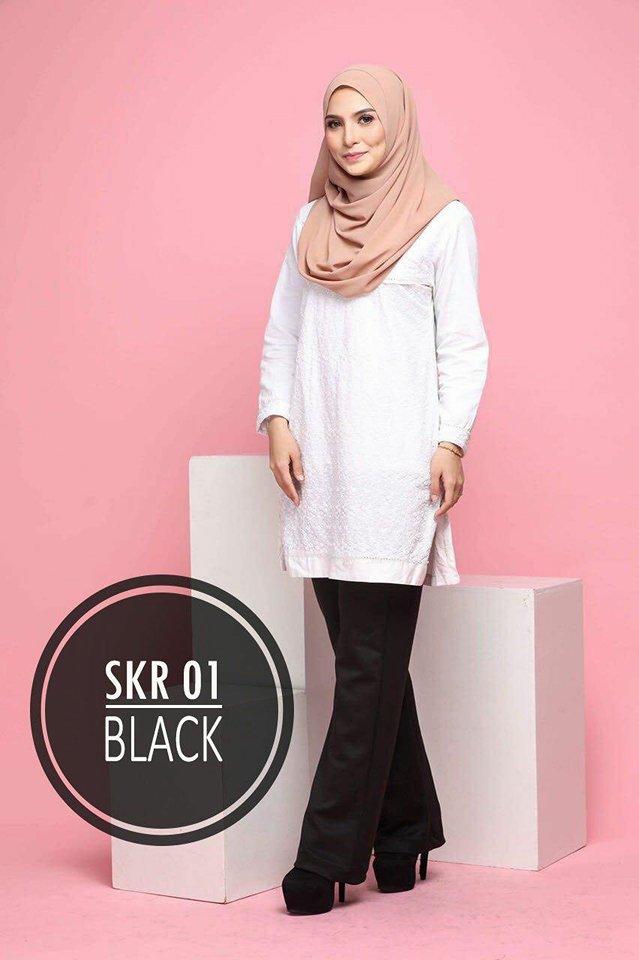 SAKURA PANTS SKR01 BLACK