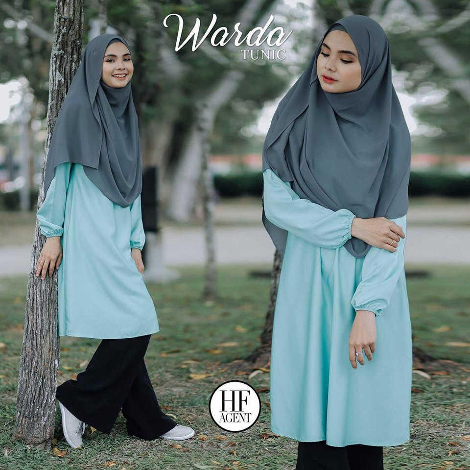 TUNIC MUSLIMAH WARDA LIGHT GREEN 2