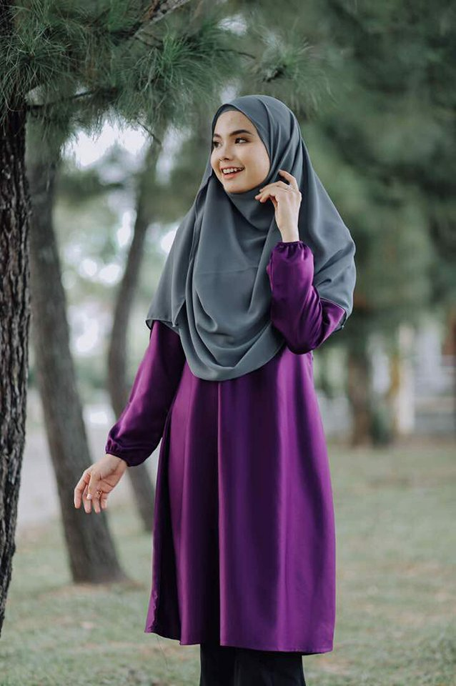 TUNIC MUSLIMAH WARDA PURPLE 1