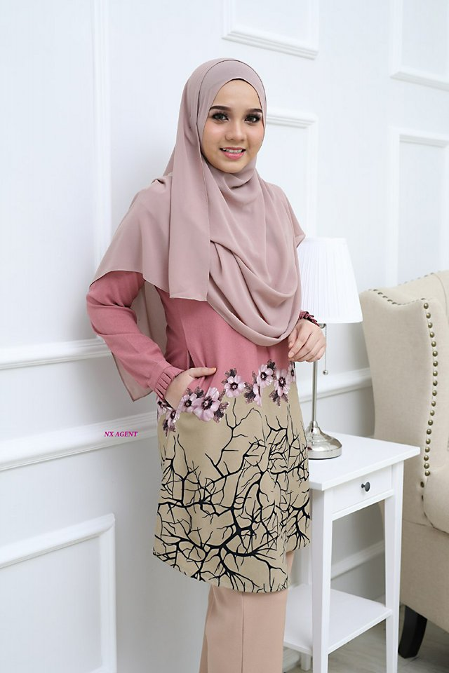 BLOUSE CAMELIA DUSTY PINK 1