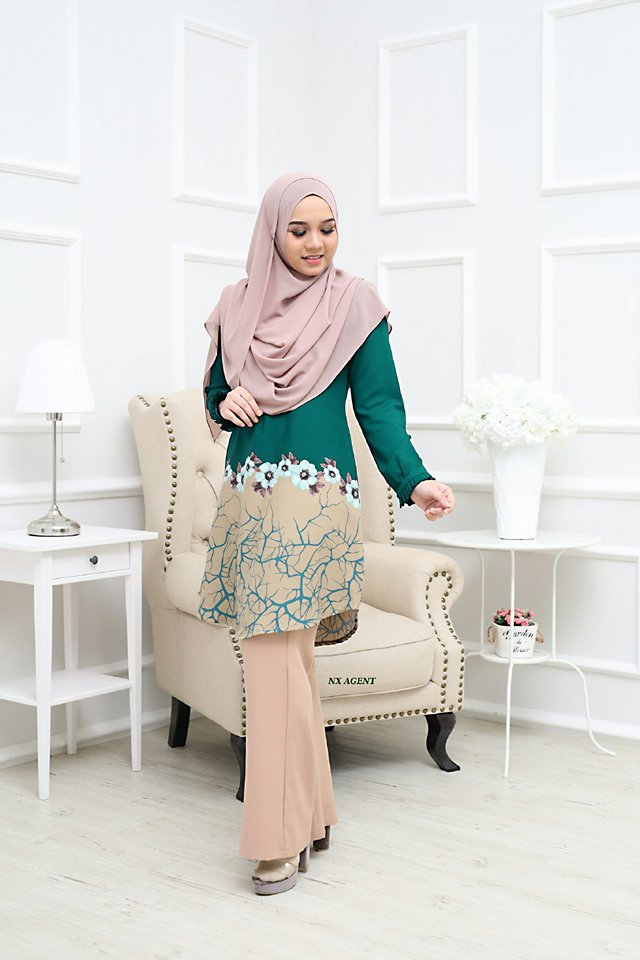 BLOUSE CAMELIA GREEN 1