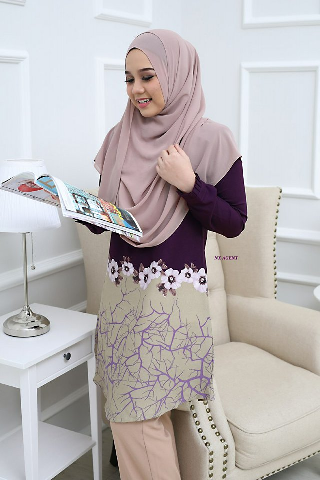 BLOUSE CAMELIA PURPLE 1