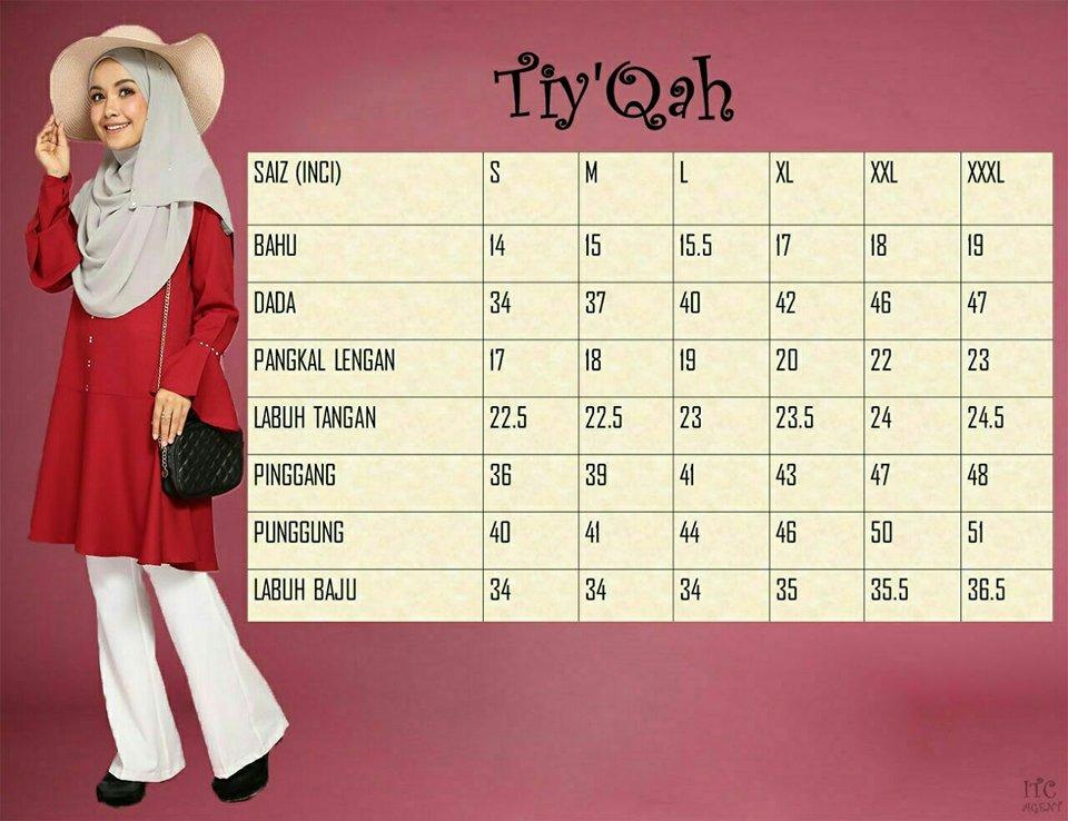BLOUSE FLARE CUT TIYQAH UKURAN