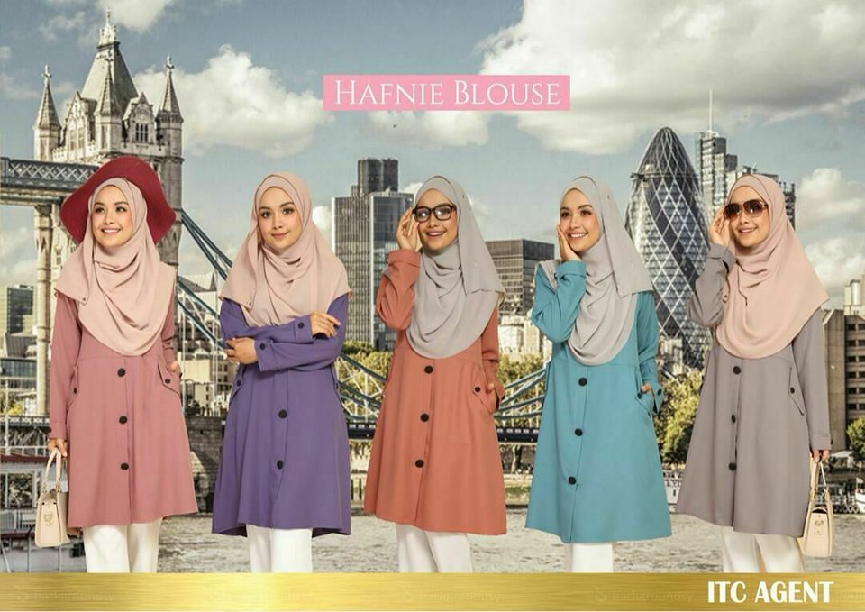 BLOUSE MUSLIMAH HAFNIE ALL