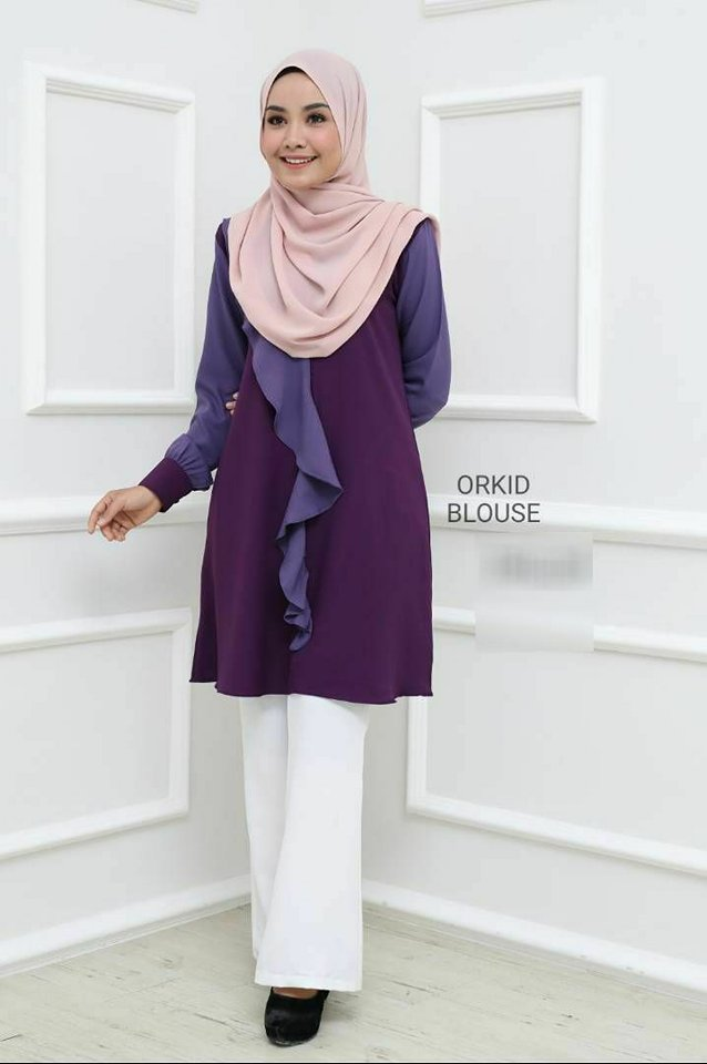 BLOUSE MUSLIMAH ORKID 1