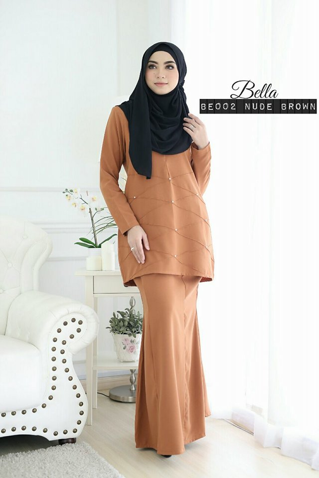 KURUNG MODEN BELLA BROWN 1